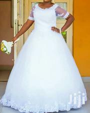 Neatly Used Pure White Ball Wedding Gown With Sleeve for Sale | Wedding Wear for sale in Oyo State, Ibadan