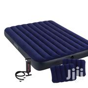 Queen Size High Quality Intex Airbed   Blue   Furniture for sale in Lagos State, Ikeja