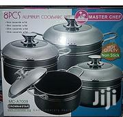 8pcs Non Stick Pot With Stainless Steel Cover Cookware | Kitchen & Dining for sale in Lagos State, Amuwo-Odofin