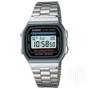 Casio A158wa-1df Men's Digital Alarm Watch - Silver | Watches for sale in Lagos State, Ikeja