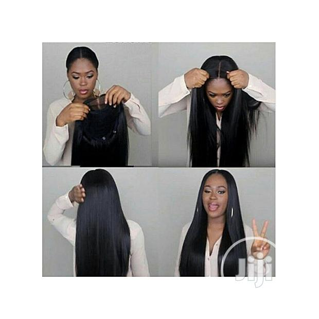 Straight Middle Part Wig With Closure