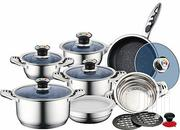 INOX 18/10brand New Quality Stainless Steel 16PC Sauce Pan Pot Set M | Kitchen & Dining for sale in Lagos State, Amuwo-Odofin