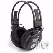 R07 Mp3 & FM Stereo Headset With Aux - Black | Headphones for sale in Akwa Ibom State, Uyo