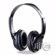 BAT Music 5800 Mp3 And FM Stereo Headset With Aux-black | Headphones for sale in Akwa Ibom State, Uyo