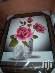 Wall Frame Pink Flowers | Arts & Crafts for sale in Lagos State, Surulere
