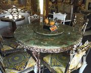 Classic Gold Marble Dining Table | Furniture for sale in Abuja (FCT) State, Wuse II