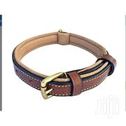 Collars Leather Two-tone Padded Dog (Brown 24) | Pet's Accessories for sale in Abuja (FCT) State, Central Business District