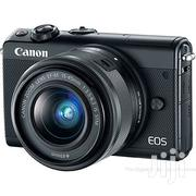 Canon Eos M100 Digital Camera 24 Mp Es-f 18- 45 Is Lens | Photo & Video Cameras for sale in Abuja (FCT) State, Wuse 2