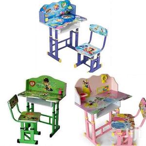 Children's Reading Table And Chair Set -MULTI-COLOURS