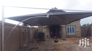 Standard Carport Covering Two Cars With Two Sides Culve Wind Breaker