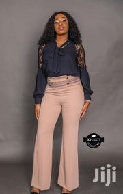Long-sleeve Laced Blouse & Loose Fit Formal Trousers | Clothing for sale in Lagos State, Lagos Mainland