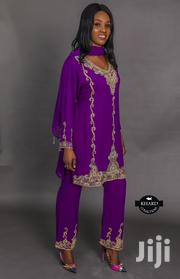 Stoned Embroidered Purple Abaya Dress | Clothing for sale in Lagos State, Agege