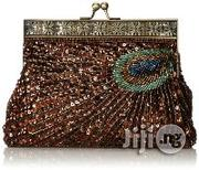 MG Collection Rayna Beaded Sequin Peacock Evening Clutch | Bags for sale in Lagos State, Lekki Phase 2