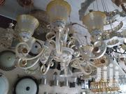 Big Chandelier Light Combination With White And Gold | Home Accessories for sale in Lagos State, Ojo