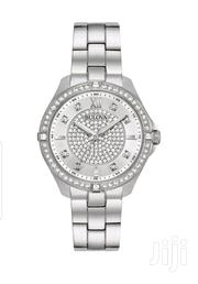 Bulova Women's 96L236 Crystal Accents Silver-Tone Bracelet 35mm Watch | Jewelry for sale in Lagos State, Amuwo-Odofin