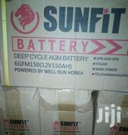 Sunfit 12v150ah Deep Cycle Lead Acid Battery   Solar Energy for sale in Lagos State, Ikeja