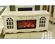 Generic Cream Fire-plate TV Console/Cabinet   Furniture for sale in Lagos State, Ikeja