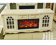 Generic Cream Fire-plate TV Console/Cabinet | Furniture for sale in Rivers State, Port-Harcourt