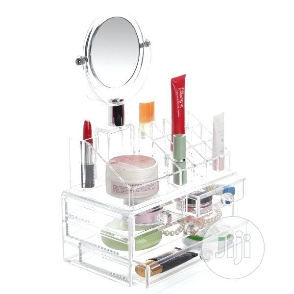Archive: Acrylic 4 Drawer Cosmetic Organizer With Mirror
