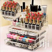 4 Drawers Acrylic Makeup Organizer Lipstick Nail Polish Clear Plast | Makeup for sale in Lagos State, Ikeja