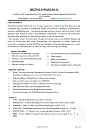Document Controller at Ascentech Services Limited | Engineering & Architecture CVs for sale in Rivers State, Port-Harcourt