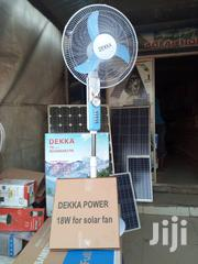 Ac/Dc Rechargeable Solar Fan With 18w Solar Panel   Home Appliances for sale in Lagos State, Ojo