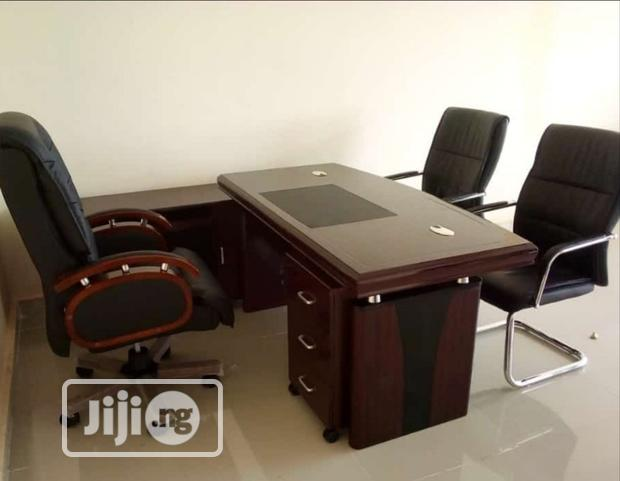 Quality Affordable Set of Executive Office Table and Swivel Chair