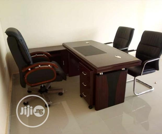 Quality Imported Set of Executive Office Table and Swivel Chair
