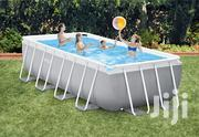 Intex 16ft X 8ft X 42in Prism Frame Rectangular Pool Set | Sports Equipment for sale in Lagos State, Amuwo-Odofin