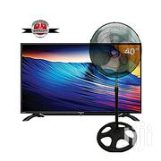 Sharp 40-inch LED TV LC40LE185M - Black + 2 Way Standing/Table Fan | TV & DVD Equipment for sale in Abuja (FCT) State, Central Business District