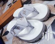 White Fashionable Designs Latest Louis Vuitton Leather Slippers | Shoes for sale in Lagos State, Lagos Island