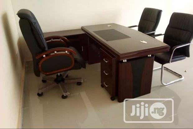 Complete Set of Durable Executive Table and Swivel Chair