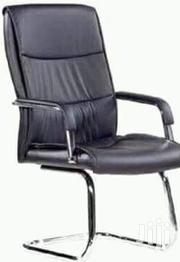 Exclusive Strong Leather Office Chair With Visitor's Neck | Furniture for sale in Lagos State, Ojo