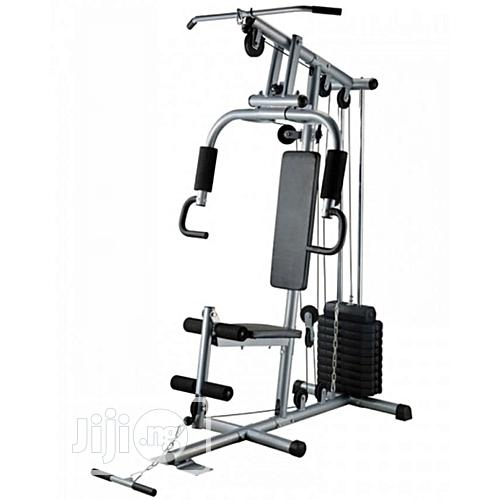 American Fitness One Station Gym With 50KG Vinyl Weight Stack- Silver