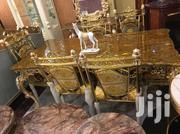Standard Gold Royal Dining Table With 6 Executive Chairs | Furniture for sale in Lagos State, Ojo