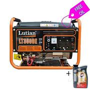 Lutian 3,5 KVA Generator With Key Starter - LT3600E + Free 1liter | Electrical Equipment for sale in Anambra State, Onitsha