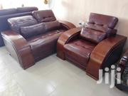 High Quality Leather Sofas Chair With Wooden Hand | Furniture for sale in Lagos State, Ikeja