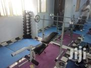 Weight Lifting Bench With 50kg Barbell | Sports Equipment for sale in Abuja (FCT) State, Asokoro