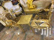 Luxury Set Of Console Gold Chair With A Marble Center Table | Furniture for sale in Abuja (FCT) State, Wuse II