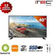 """Itec 40"""" Smart LED Television With Android 7.0 And Free Wall Bracket 