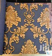 Gold on Navy Blue Damask Wallpaper   Home Accessories for sale in Abuja (FCT) State, Kubwa
