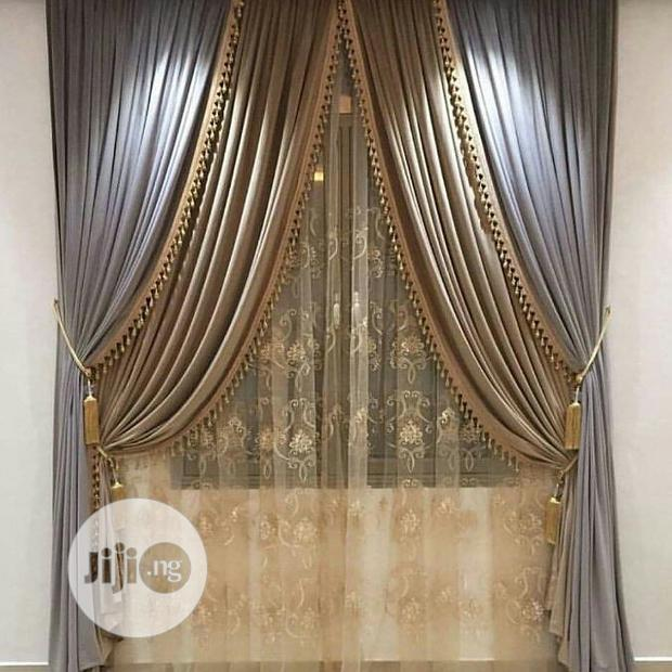 Turkish Curtain Design With Complete Accessories