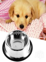 Stainless Steel Pet Bowl Non Slip Dog Puppy Pet Food Water Bowl Plat | Pet's Accessories for sale in Lagos State, Victoria Island
