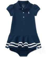Ralph Lauren Cotton Polo Dress - Nvy Blue (18m 24m)   Children's Clothing for sale in Lagos State, Lagos Mainland