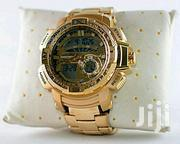 Joefox Gold Analog+Digital Waterproof Chronograph Watch for Men | Watches for sale in Lagos State, Agboyi/Ketu