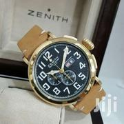 Zenith Men'S Brown Leather Strap Chronograph Watch   Watches for sale in Lagos State, Ikeja