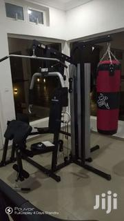 American Fitness 3station Gym With Punching Bag and Speed Ball | Sports Equipment for sale in Lagos State, Lekki Phase 1