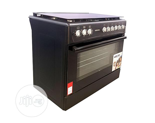 Bruhm 4 Gas Burners + 2 Electric Cooker( 90 X 60 )