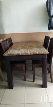 Marble Dinning Table Wt 4chair | Furniture for sale in Rivers State, Port-Harcourt
