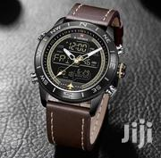 Men Brown Leather Wristwatch   Watches for sale in Lagos State, Ikeja